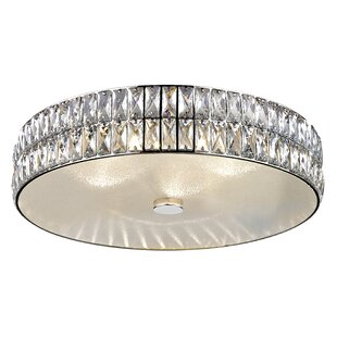 Rosdorf Park Rolston Crystal 1-Light 33W Flush Mount
