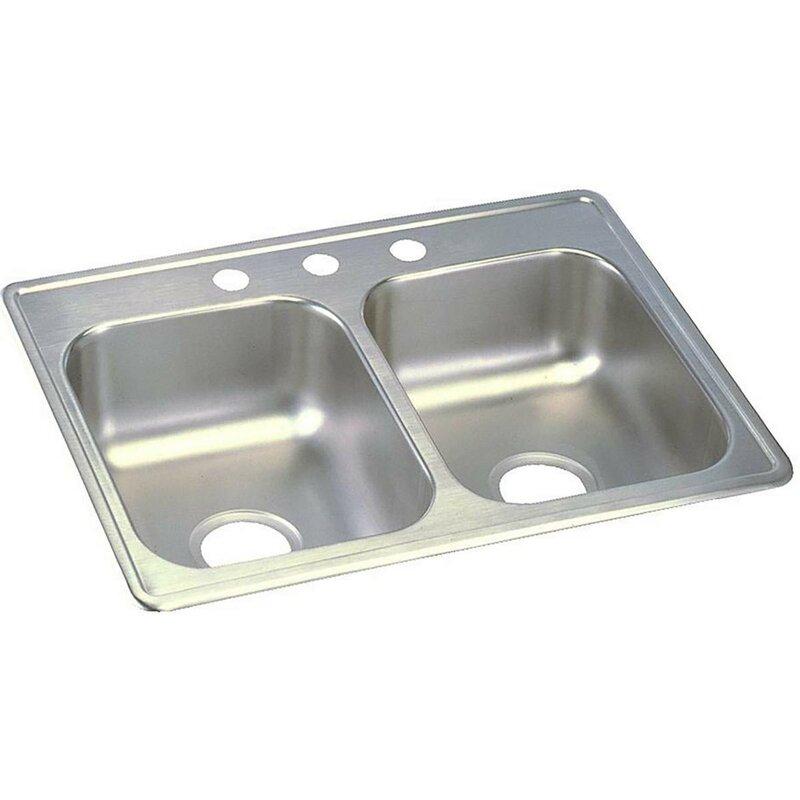 Elkay dayton 25 x 19 double basin top mount kitchen sink reviews dayton 25 x 19 double basin top mount kitchen sink workwithnaturefo