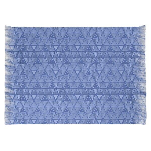 East Urban Home Hand Drawn Triangle Blue Area Rug Wayfair