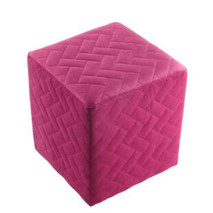Grayson Brick Quilted Cube Ottoman by Inspired Home Co.