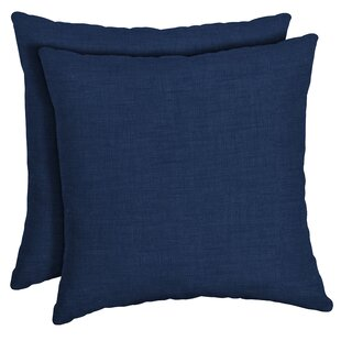 Canipe Texture Outdoor Throw Pillow (Set of 2)