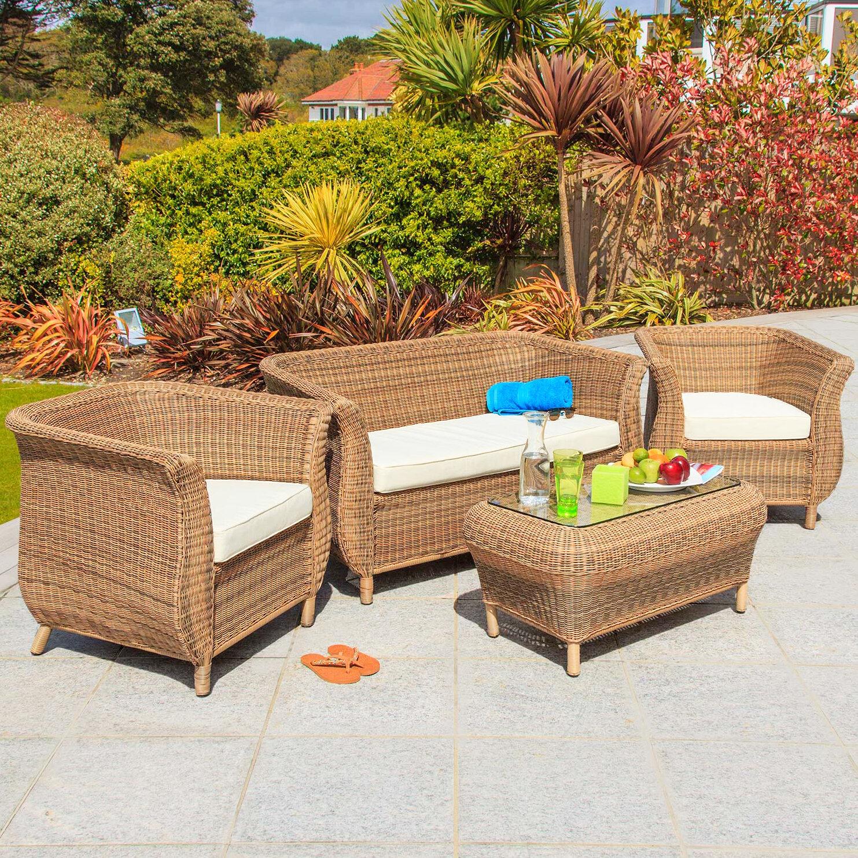 Home Loft Concept 4-Sitzer Lounge-Set Jamaica aus Rattan mit Polster ...