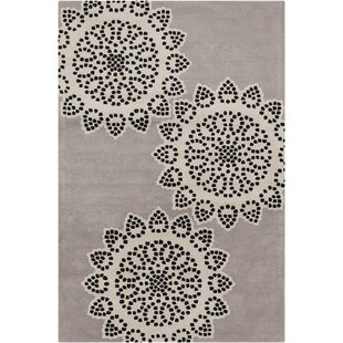 Big Save Willow Hand Tufted Wool Taupe/Black Area Rug ByRed Barrel Studio