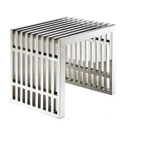 Orren Ellis Paolucci Strips Metal Bench