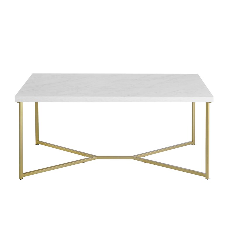 Foundstone Devito Cross Legs Coffee Table Reviews Wayfair
