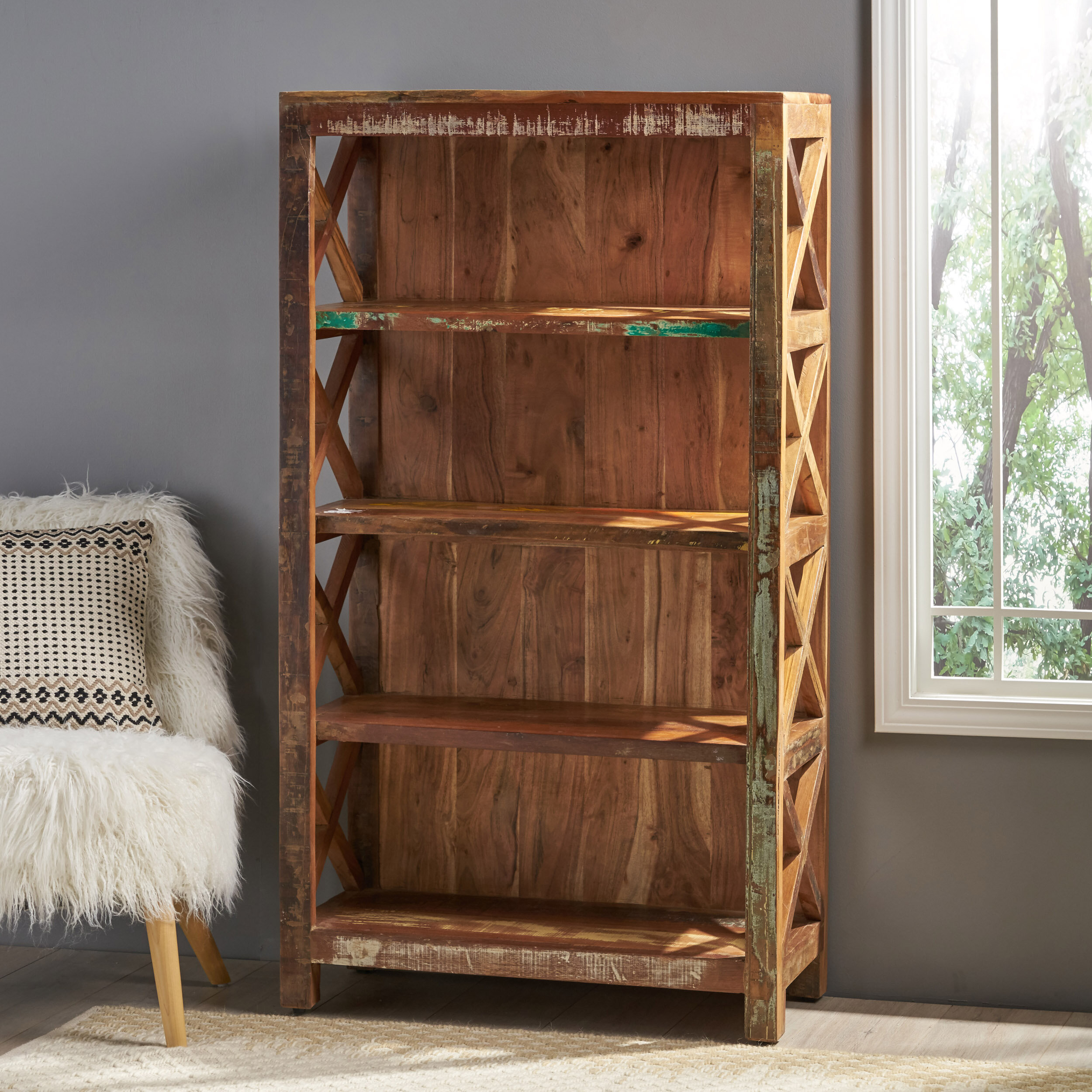 Starr Distressed Standard Bookcase