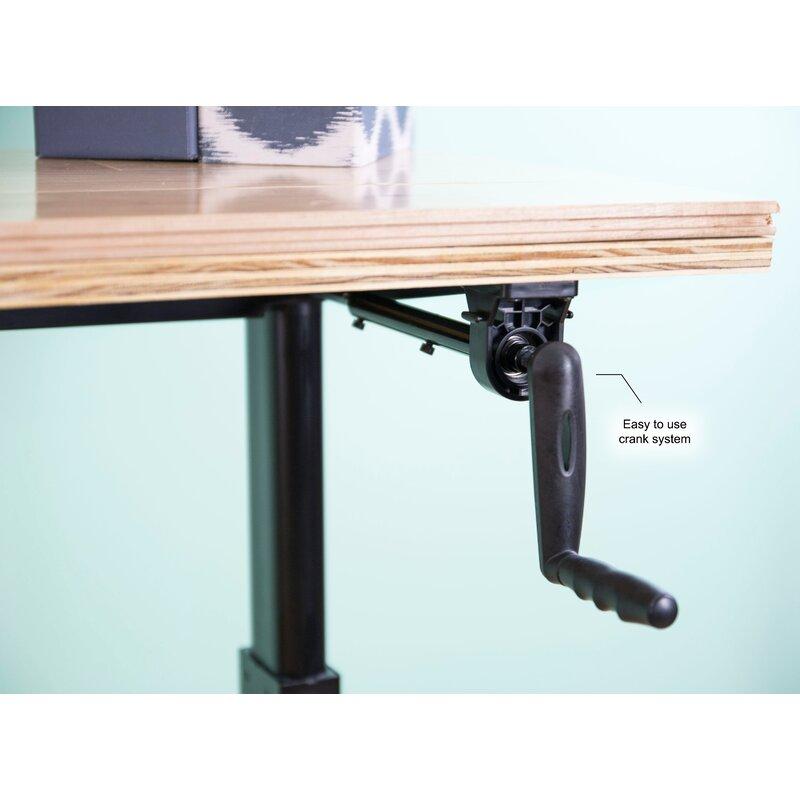 Manual Crank Stand Up Frame System Standing Desk