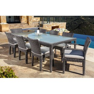 Brayden Studio Beam 9 Piece Sunbrella Dining Set