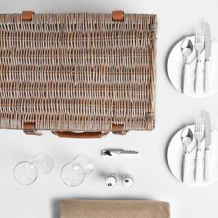 Herringbone 2 Person Picnic Basket By VonShef