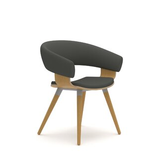 Mollie 4 Wood Leg Side Chair by Allermuir