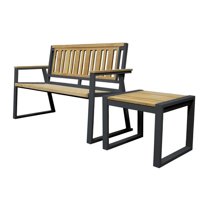 Asta Furniture, Inc. California Room Chino Teak And Iron Park Bench