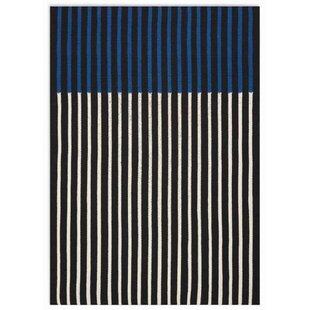 Buy luxury Nashville Modern Hand-Woven Ivory/Black/Cobalt Area Rug ByCalvin Klein