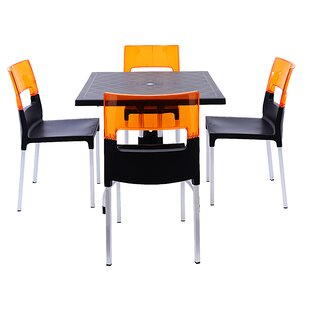 Brayden Studio Slezak 4 Piece Dining Set