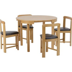 Tariq Dining Set With 4 Chairs By Alpen Home