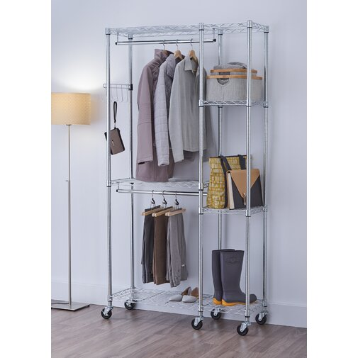 EcoStorage 41 in. W Mobile Garment Rack