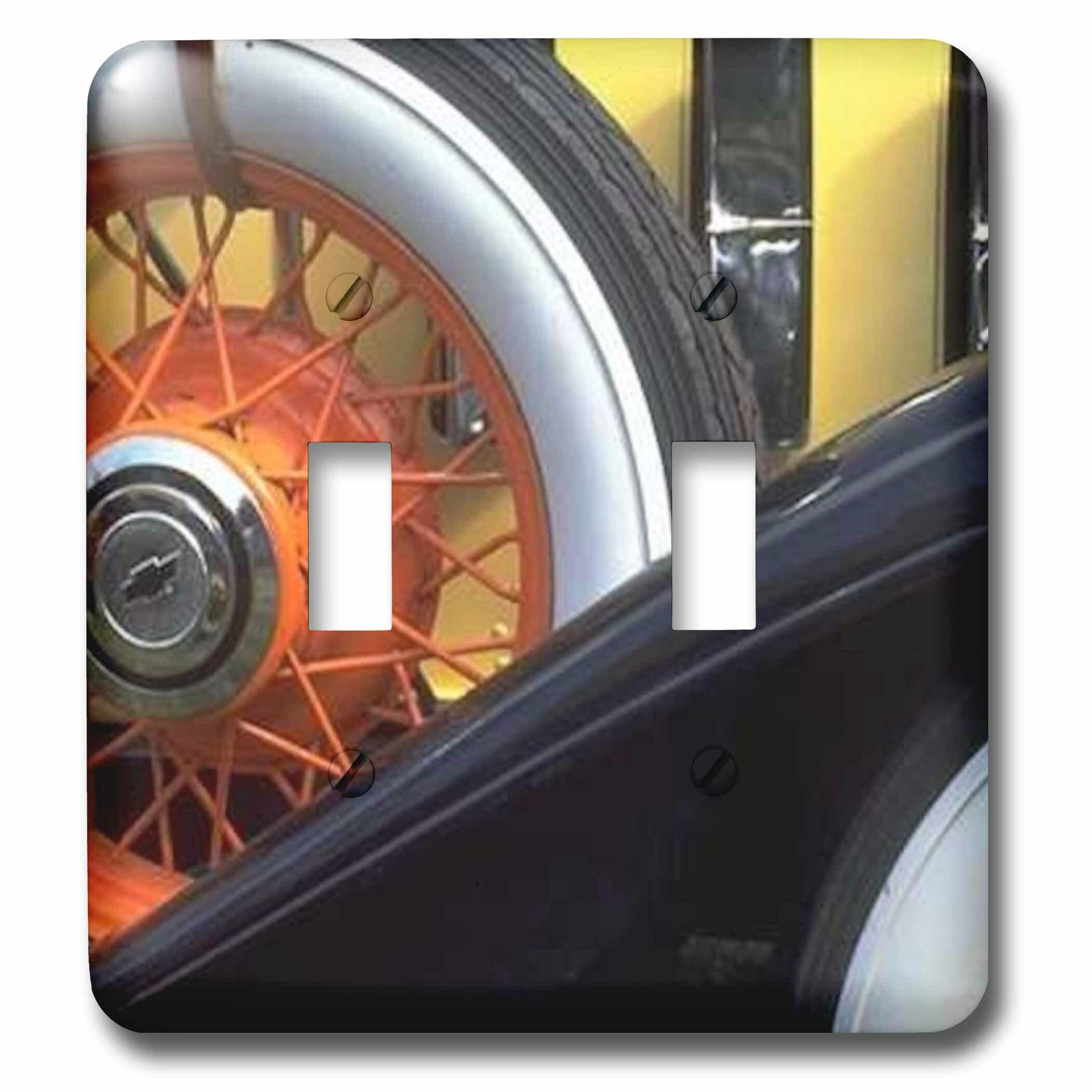 3drose Side Tire 2 Gang Toggle Light Switch Wall Plate Wayfair