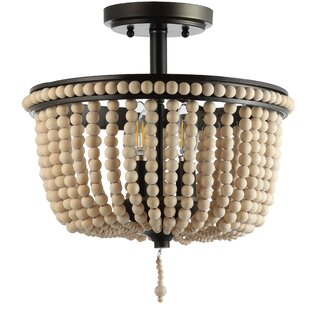 Tawanda 3-Light Semi Flush Mount by Bungalow Rose