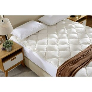 Grindstaff Hypoallergenic Rayon from Bamboo Fitted Down Alternative Mattress Pad by Alwyn Home