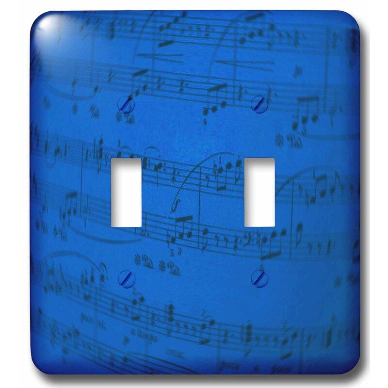 3drose Sheet Music 2 Gang Toggle Light Switch Wall Plate Wayfair