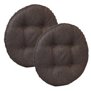 Wayfair Basics Tufted Gripper Barstool Cushion Set (Set of 2)  sc 1 st  Wayfair & Slip On Bar Stool Covers Round | Wayfair islam-shia.org