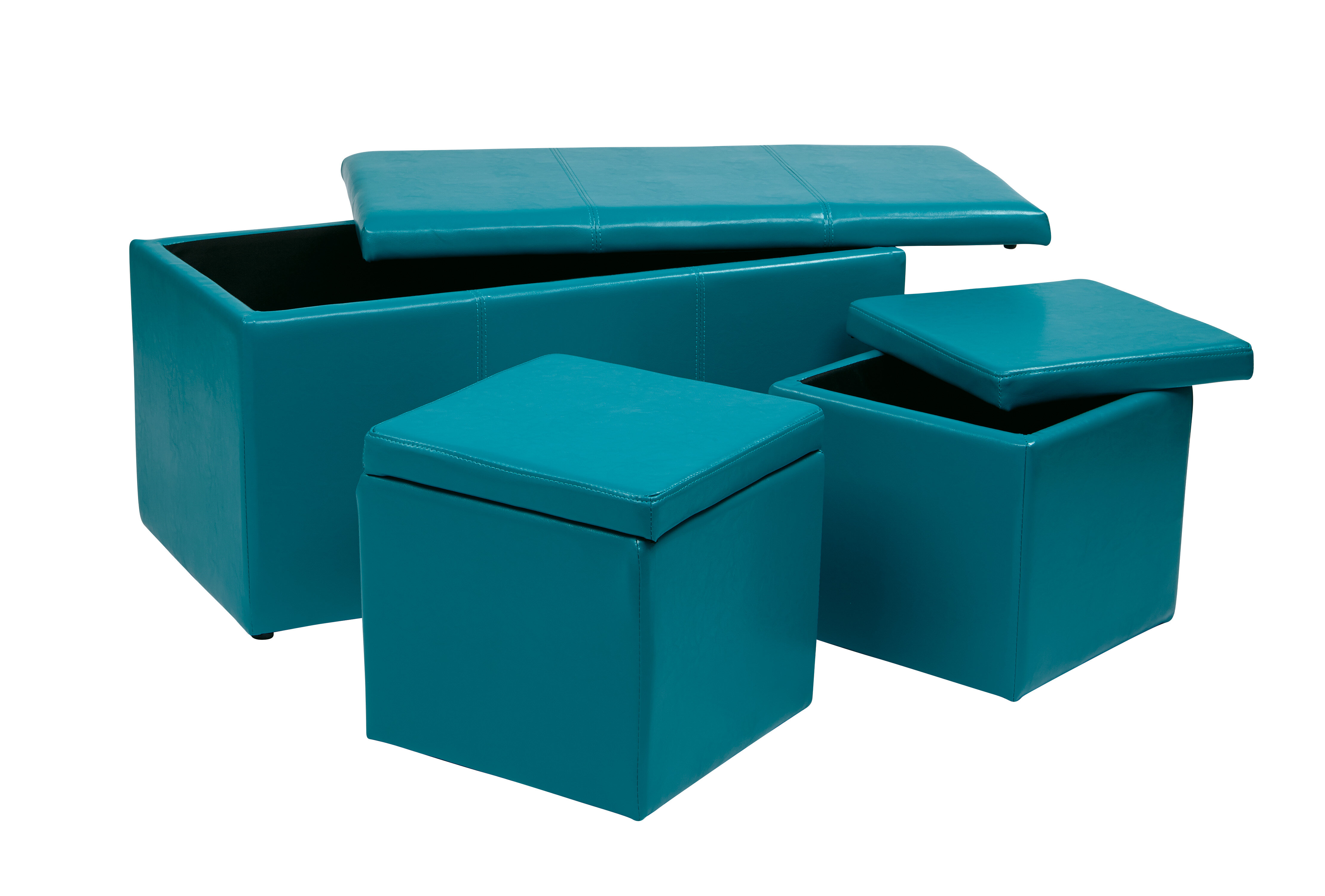 Stupendous Elverton 3 Piece Storage Ottoman Set Gmtry Best Dining Table And Chair Ideas Images Gmtryco
