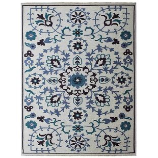 Deals Tullos Sumak Floral Wool White Area Rug By Red Barrel Studio