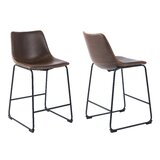Milana Bar & Counter Stool (Set of 2) by Williston Forge