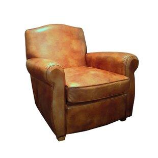 Vassar Top Grain Leather Club Chair by Westland and Birch