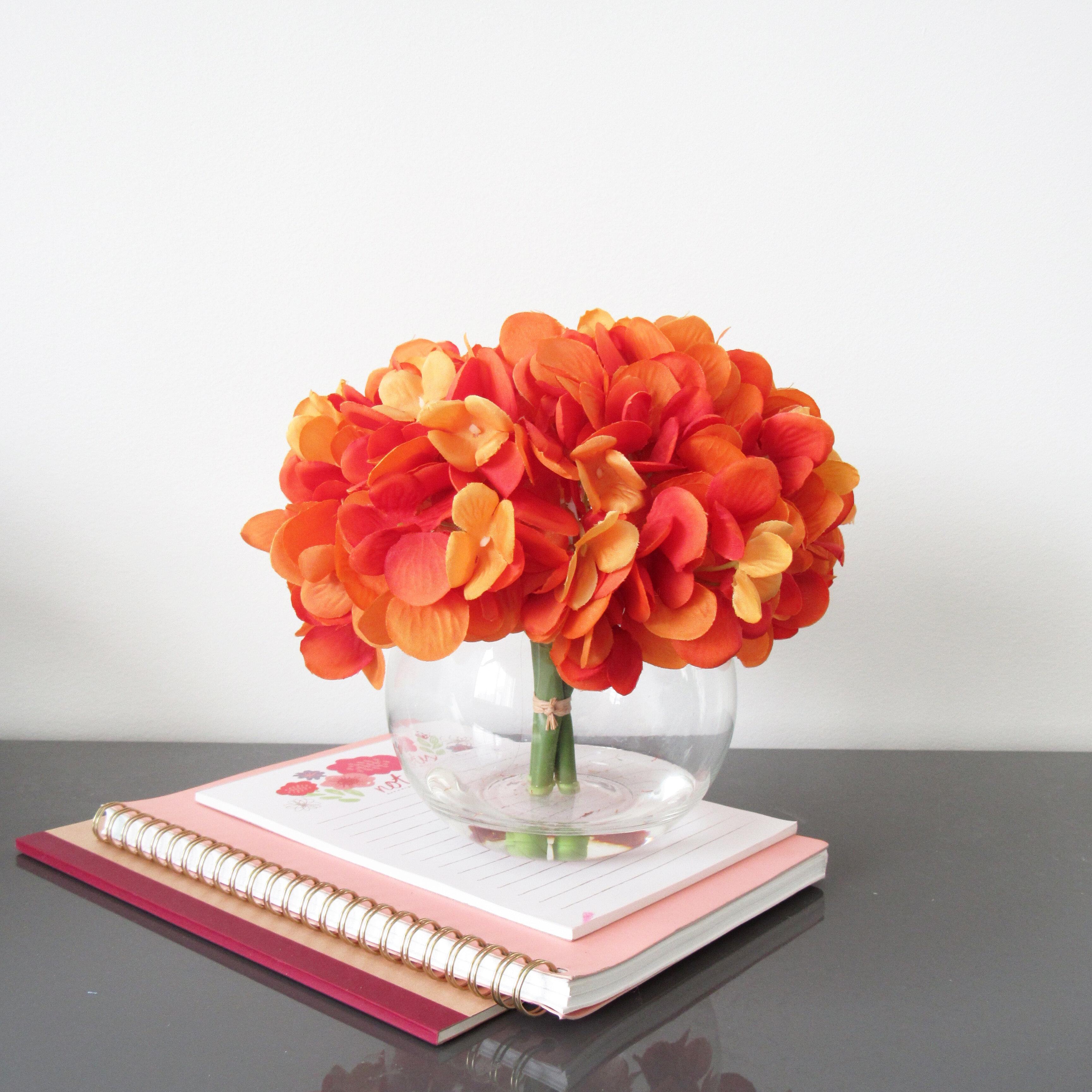 Floral Arrangements Orange Faux Flowers You Ll Love In 2021 Wayfair