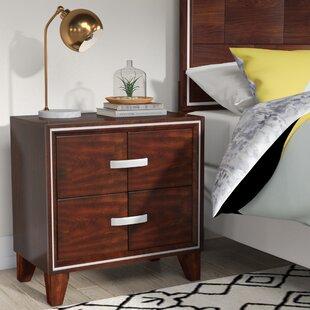 Lumley Contemporary 2 Drawer Nightstand by Brayden Studio