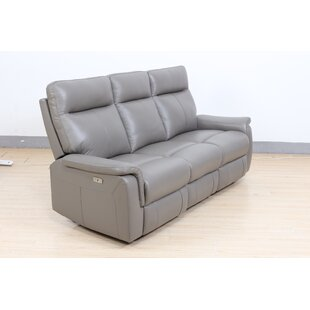 Callie Genuine Leather 3 Seater Reclining Sofa By Ebern Designs