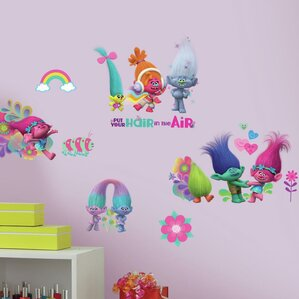 trolls movie peel and stick wall decal