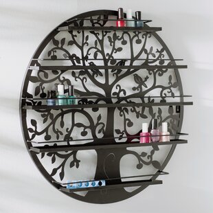 5 Tier Wall Mount Tree Nail Polish Cosmetic Organizer by Rebrilliant