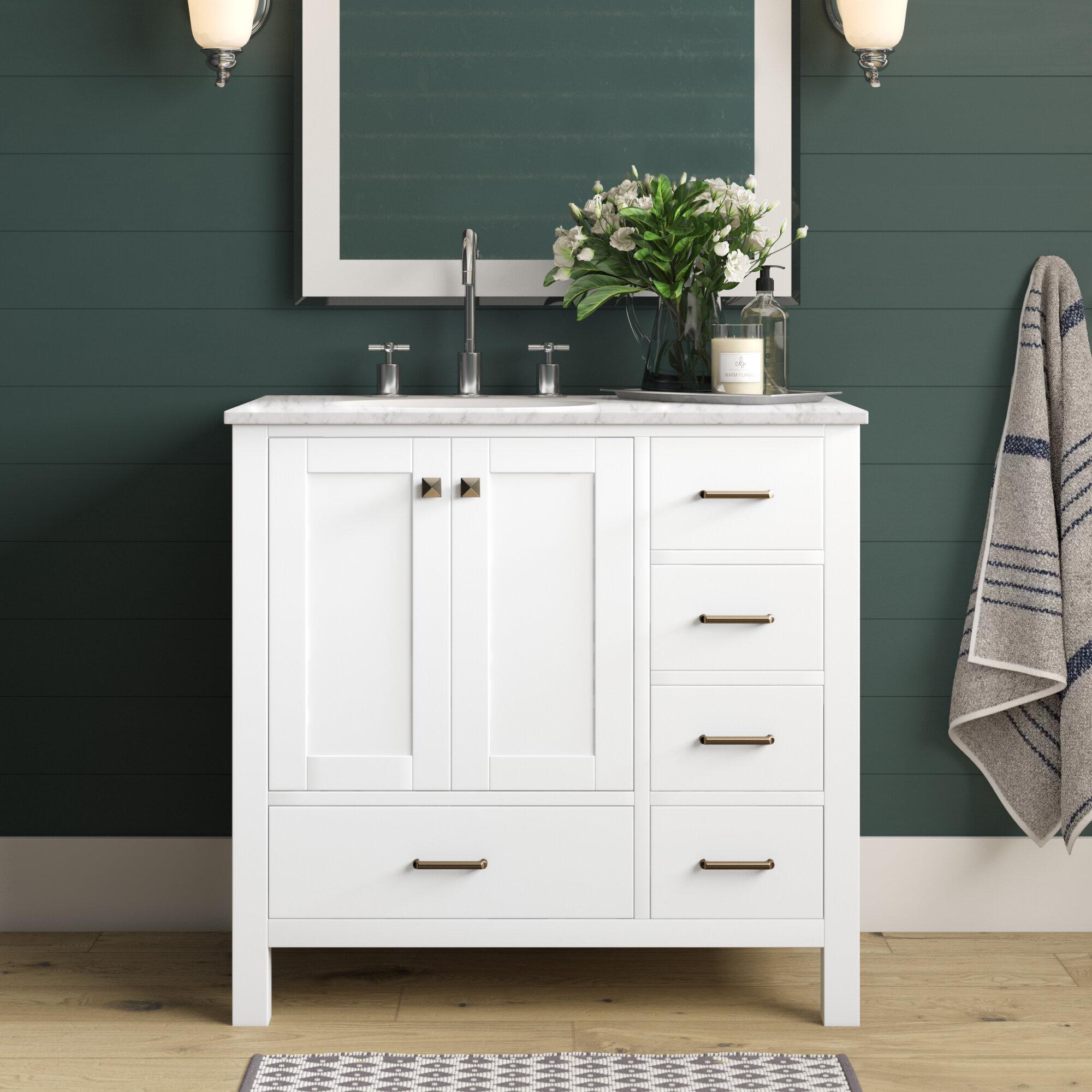 Aneira Full Cabinet 36 Single Bathroom Vanity Set Reviews Joss Main