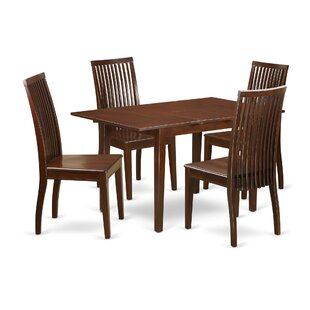 Katie 5 Piece Solid Wood Dining Set by Alcott Hill Fresh