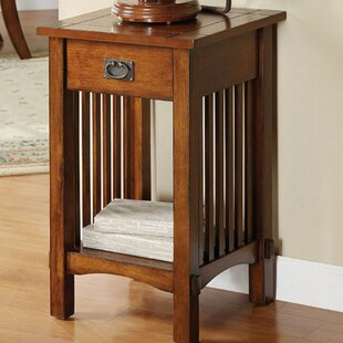 Bargain Villaltencia Corner End Table by Loon Peak