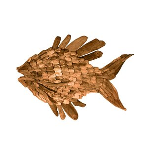 Large Driftwood Angel Fish Wall Décor