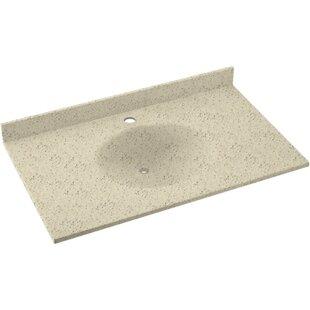 Ellipse Solid Surface 49 Single Bathroom Vanity Top By Swan