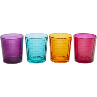 Windowpane with Style 13 oz. Double Old Fashioned Glass (Set of 4)