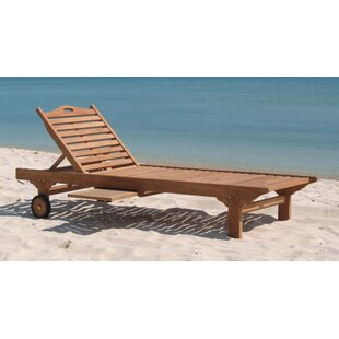 Gast Teak Reclining Chaise Lounge