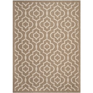 Octavius Brown/Bone Indoor/Outdoor Area Rug