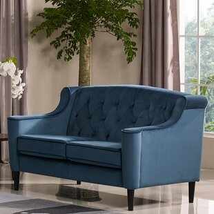 Crewkerne Velour Standard Loveseat by Mercer41