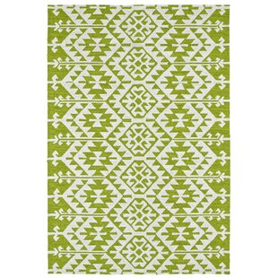 Lime Green/Ivory Indoor/Outdoor Area Rug