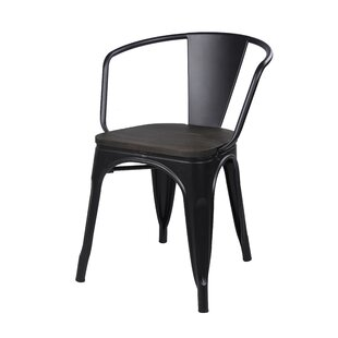 17 Stories Anni Metal Dining Chair (Set of 2)