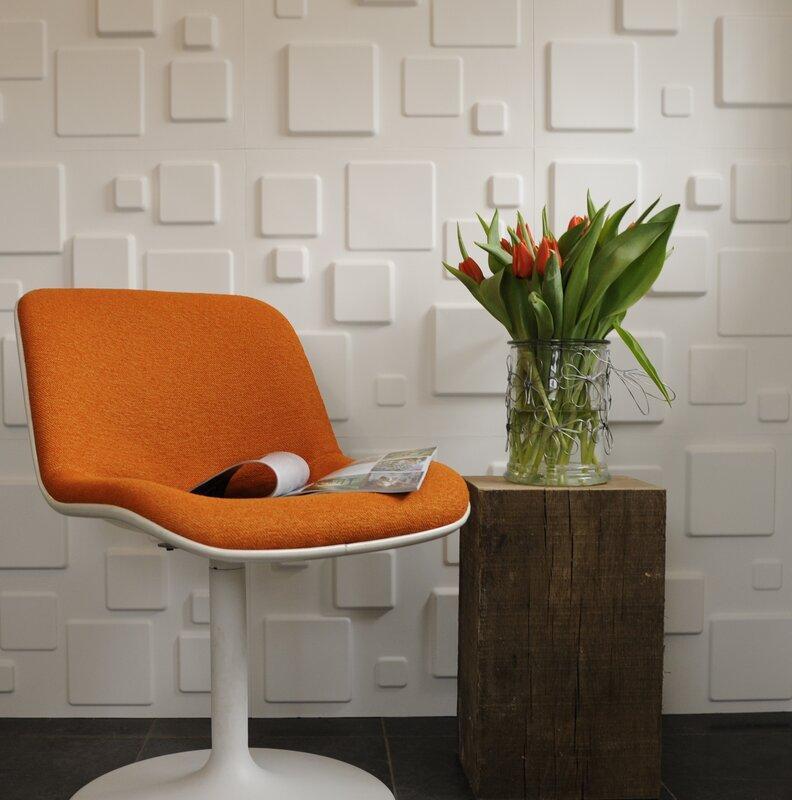 Decor Wonderland Squares 3D Decorative Wall Panels & Reviews   Wayfair