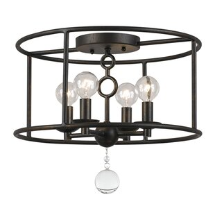Comparison McMullen 4-Light Semi Flush Mount By Gracie Oaks