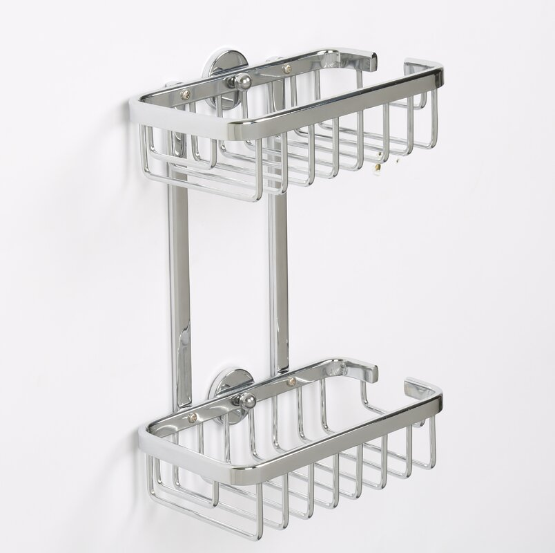 Rebrilliant Ellenberger Aluminum 2-Tier Shower Caddy & Reviews | Wayfair