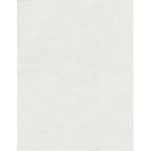 Reviews Qichen Outstanding Modern Solid White Area Rug By Gracie Oaks