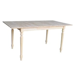 Telles Solid Wood Dining Table Charlton Home