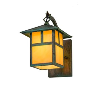 Wydra 1-Light Outdoor Wall Lantern by Loo..